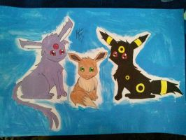 Eevee Family Poster by Miku-chan9