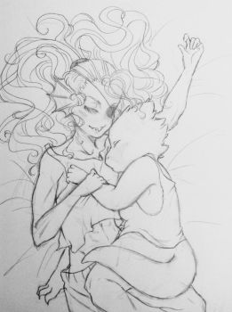 Sleepy Alphyne sketch~ by Ambrouillamini