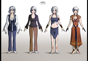 Commission: Kira Character Concept Design by Marina-Shads