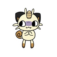 052 meowth by pinkbunnii