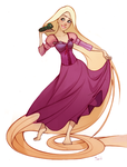 Tangled Rapunzel by Phobs