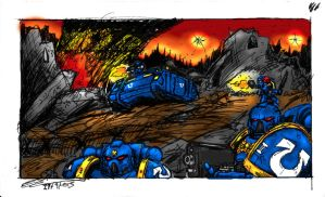 space marines Post stick... by cyphercodicer2