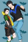 Nightwing and Robin_Dick and Damian by calciumandsugar