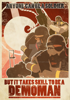 Demoman Propagana poster by Gameguran