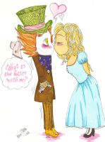 Hatter and Alice by LittleHatCat