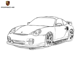Porsche 911 Drawing by Revolut3
