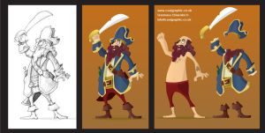 Pirate Captain - Sticker Study by Coolgraphic