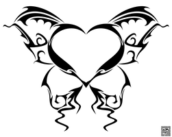 Butterfly Heart Tattoo -detail by cow41087