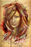 Olivia Wilde Portrait Painterly by studiomuku