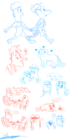 Mainly Platypus sketches by dragonwolfgirl1234