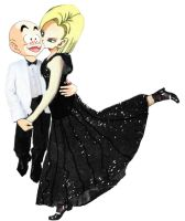 Krillin and Android 18 waltz by amaranthe333
