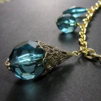 Turquoise Shimmer Necklace by Gilliauna