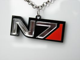 Mass Effect N7 mirror pendant on ETSY by GringosCustoms