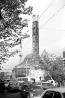 Turkey Istanbul The Column of Constantine 1970s by BlackWhitePictures