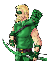 Green Arrow (color) by Rayluaza