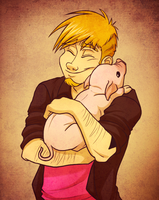 Pig Cuddle.jpg by AeroSocks