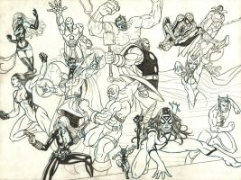 Avengers Assemble! - pencils by baybee-snayx