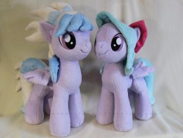 Flitter and Cloudchaser by MagnaStorm