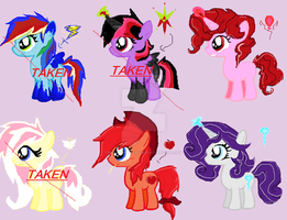 ~MLPXSonic Adoptables~ 3/6 Open by EvaBronyLoveArt