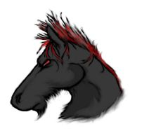 Weird Blackish Horse Thing by diabolicalfish