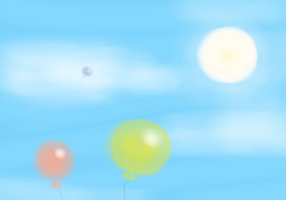 floating balloons by N-suprem