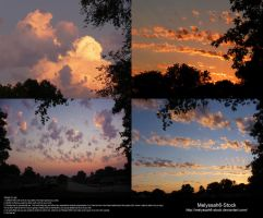 Cloud Stock 23 - Sunset by Melyssah6-Stock