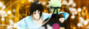 Naruto and Sassuke  ::Firma:: by ZeyToX