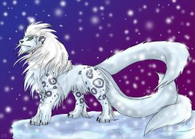 Polar Uncia sketch by Blue-Uncia
