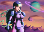 Colonial Space Soldier Girl by Twisted4000