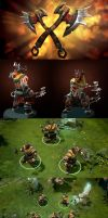 Dota2 Fangs of the Savage by polyphobia3d