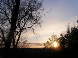 1st Of Feb 2013 Sunset 3 by BlueIvyViolet