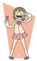 Commissions - 1 - Yuko - Nichijou by SrPelo