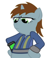 Littlepip - Does 'Pip need to smack a filly? by Psalmie