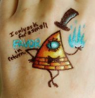 Bill Cipher (Hand Art 9) by 9RavenHunter9