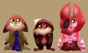 Toddlers by Cookie-and-her-foxes