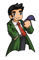 Phoenix Wright - Gumshoe by desfunk