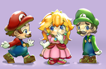 Chibi Mario Party by milkybee