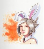 Bunny Riven Colored Portrait by BacusIllustrations