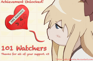 Thanks101 Watchers! by CubizSparkle