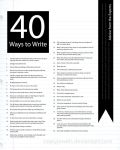 40 Ways to Write by CaseyJewels