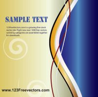 Wave Page Layout Vector by 123freevectors