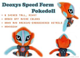 Pokedoll - Deoxys speed form by TeacupLion