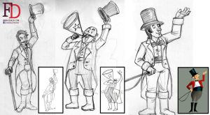 Circus Characters- The Ringmaster by fdrawer