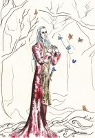 Thranduil and butterflies by Vilena68