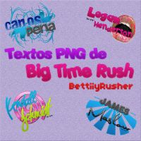 Pack Texts PNG Big Time Rush by BettiiyRusher