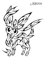 Tribal Sylveon by blackbutterfly006