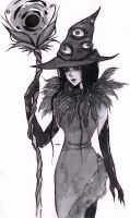 Inktober Wicked Witch by Hua-online