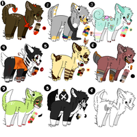 Doggie Adopts - OPEN - 7/9 (Points/Paypal) by DeadBombs