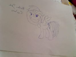 CoolNess Rainbow Dash Drawing by MarisaPony