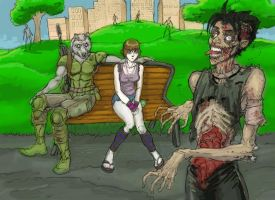 Crowstone Zombie and Friends by MilwaukeeDriver